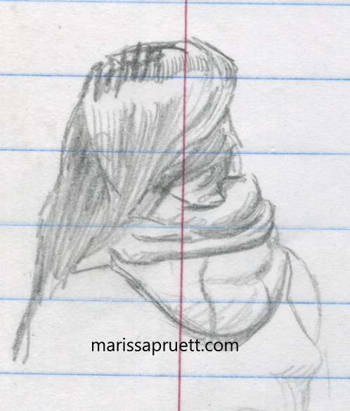 back of girl head
