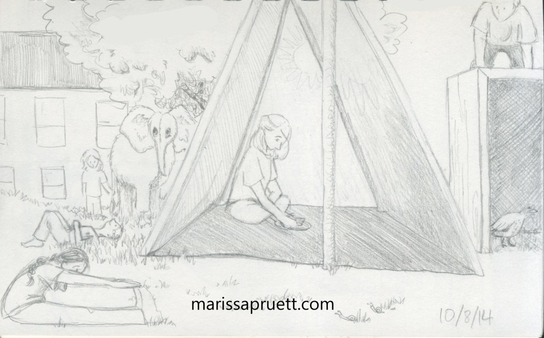 tent and kids